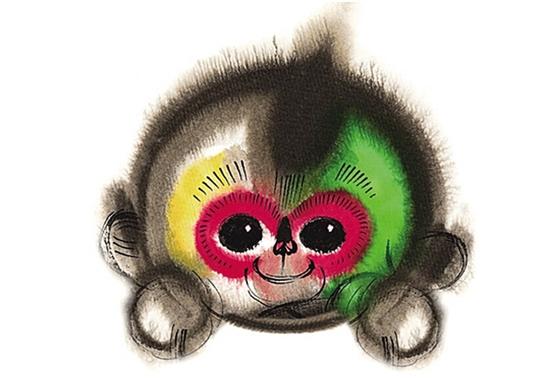 可爱绘画猴壁纸