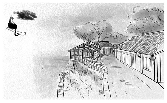 稻草房子简笔画